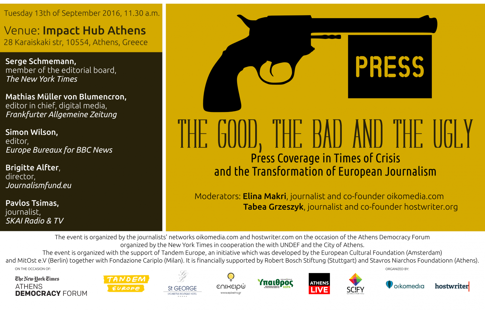 The Good, The Bad And The Ugly: Press Coverage in Times of Crisis and the Transformation of European Journalism